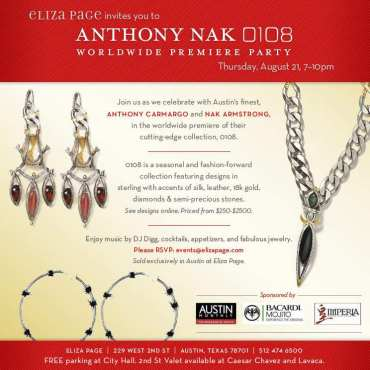 Anthony Nak Launch at Eliza Page