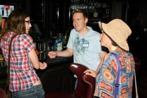 Bloggers chatting