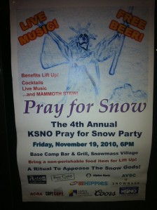 Pray for Snow Party in Snowmass