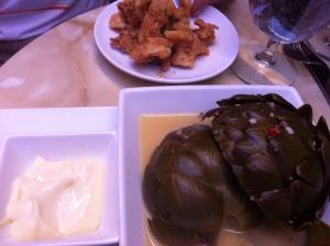 Ellina aspen artichoke and calamari