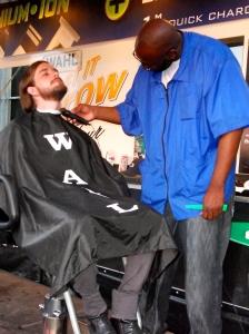 Free barbers austin