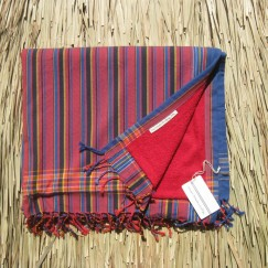 Red Blue Stripey sarong towel