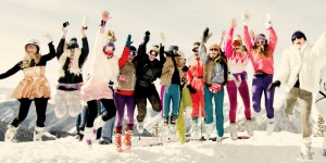 ski girls jumping